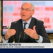 Thierry Repentin, ministre délégué chargé des Affaires européennes, dans Le Grand Journal 2/4
