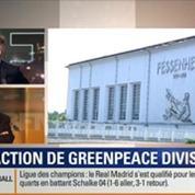 Le Soir BFM: Une spectaculaire intrusion de militants de Greenpeace dans l'enceinte de la centrale nucléaire de Fessenheim 1/5