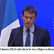 Manuel Valls confirme un taux d'abstention de 35,87%