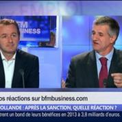 Hollande: après la sanction, quelle réaction ?, dans Les Décodeurs de l'éco 5/5