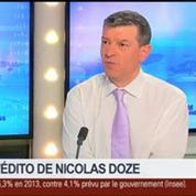 Nicolas Doze: Déficit 2013:On est tout de même sur une trajectoire positive –
