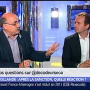 Hollande: après la sanction, quelle réaction ?, dans Les Décodeurs de l'éco 2/5