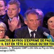 En tête au premier tour à Pau, Bayrou exprime sa vive émotion