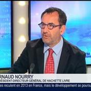 Le livre numérique représente 10,4% du chiffre d'affaires de Hachette Livre, Arnaud Nourry, dans GMB –