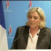 Marine Le Pen: le FN-RBM est au centre du jeu