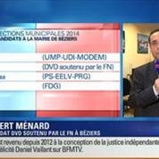 BFM Story: Élections municipales de 2014 à Béziers: Robert Ménard serait en tête au premier tour selon un sondage CSA