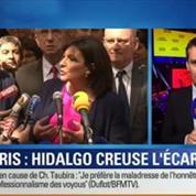 BFM Story: Élections municipales de 2014 à Paris: Anne Hidalgo creuse l'écart avec Nathalie Kosciusko-Morizet, selon un sondage CSA