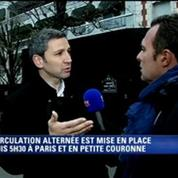 Circulation alternée: Christophe Delay à vélo interviewe Christophe Najdovski