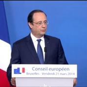Hollande à Bruxelles: Il s'agit d'assurer à nos alliés l'expression de notre solidarité