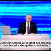Surveillance: Snowden interpelle Poutine à la télévision
