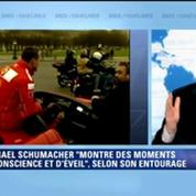 Schumacher: il montre des moments de conscience et d'éveil