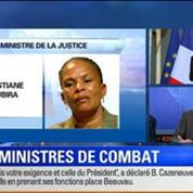 BFM Story Édition spéciale sur l'équipe Valls: Christiane Taubira maintenue à la Justice: que devient la réforme pénale ? 4/7