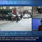 BFMTV Replay: Conseil des ministres: Christiane Taubira est arrivée en vélo