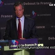 Le britannique Nigel Farage à Paris pour soutenir Dupont-Aignant