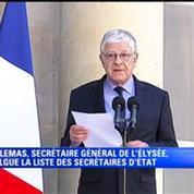 Remaniement: Pierre-René Lamas annonce la liste des quatorze nouveaux secrétaires d'Etat