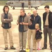 Ex-otage Didier François à Villacoublay: Ca a été long, mais on n'a jamais douté