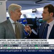 La biotech Genticel entre en Bourse: Benedikt Timmerman, dans Intégrale Bourse –
