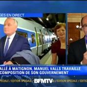 Jean-Marc Ayrault prend le train pour Nantes après son départ de Matignon