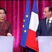 Aung San Suu Kyi sait pouvoir compter sur l'appui de la France