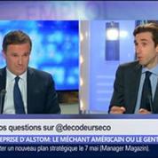 Reprise d'Alstom: le groupe va-t-il choisir le méchant américain ou le gentil allemand ?, dans Les Décodeurs de l'éco 4/5