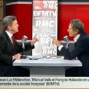 Mélenchon accuse BFM TV de faire le jeu du FN