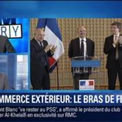 BFM Story: Commerce extérieur: bras de fer entre Laurent Fabius et Arnaud Montebourg
