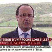 Hollande : «Aquilino Morelle a pris la seule décision qui s'imposait»