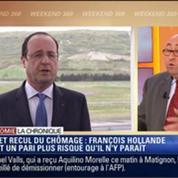 L'Éco du soir: Candidat en 2017 si le chômage baisse, François Hollande fait un pari très risqué