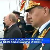 Poutine assiste aux célébrations commémoratives en Crimée