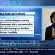 BFMTV Replay: Proposition de loi sur la famille: La stratégie d'obstruction de l'UMP dénoncée par la gauche –