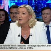 BFM Politique: L'interview de Marine Le Pen par Anna Cabana du Point 3/6