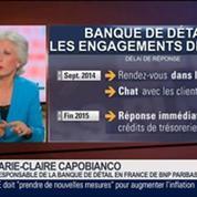 Marie-Claire Capobianco, responsable de la banque de détail en France de BNP Paribas, dans Le Grand Journal 3/4