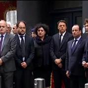 François Hollande se recueille devant le Musée juif de Bruxelles