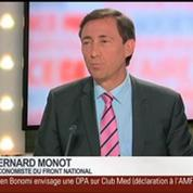 Bernard Monot, économiste du Front national, dans Le Grand Journal 3/4
