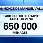 Manuel Valls veut faire baisser les impôts de 650.000 foyers