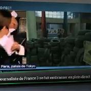 Top Média : une journaliste de France 3 se fait embrasser en plein direct