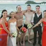 Ils interrompent leur séance de photo de mariage pour sauver un pêcheur