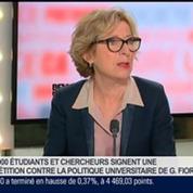 Geneviève Fioraso, secrétaire d'État à l'Enseignement supérieur et à la Recherche, dans Le Grand Journal 3/4