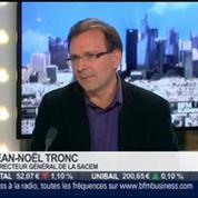 Jean-Noël Tronc, Sacem, dans l'invité de BFM Business –