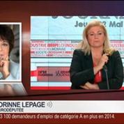 Ulysse Gosset et Corinne Lepage, dans Le Grand Journal 1/4