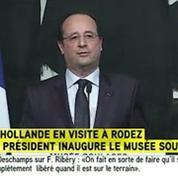 Musée Soulages: Hollande rend hommage au maître de l'Outrenoir