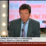 Geoffroy Roux de Bézieux, vice-président du Medef et président de Virgin Mobile France, dans Le Grand Journal 4/4