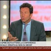 Geoffroy Roux de Bézieux, vice-président du Medef et président de Virgin Mobile France, dans Le Grand Journal 3/4