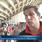 Les intermittents ont bloqué l'accès d'un théâtre parisien