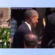 Barack Obama et Hollande prennent le temps de saluer les vétérans