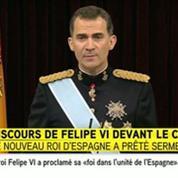 Felipe souhaite que les Espagnols soient fiers de lui