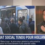 Le Soir BFM: François Hollande face aux conflits sociaux
