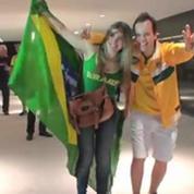 Football / La joie es supporters à Sao Paulo