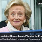 Bernadette Chirac : «Avec mon mari, nous poussons des cris» devant les matches