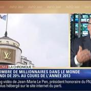 L'Éco du soir: Le nombre de millionnaires dans le monde a augmenté de 20 % en 2013